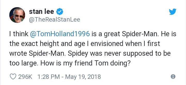 Disney-Sony Spider-Man Deal stanlee tweet