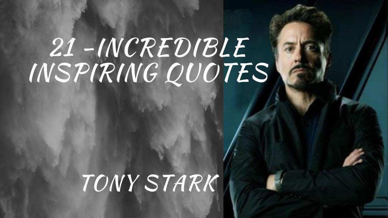 Tony stark quotes