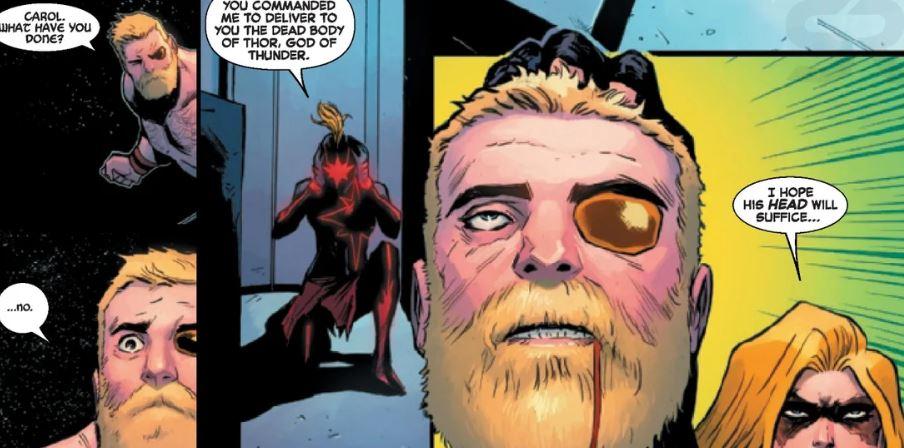 captain marvel kills thor in comics