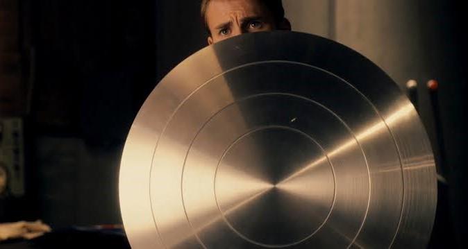 Vibranium shield in first avenger