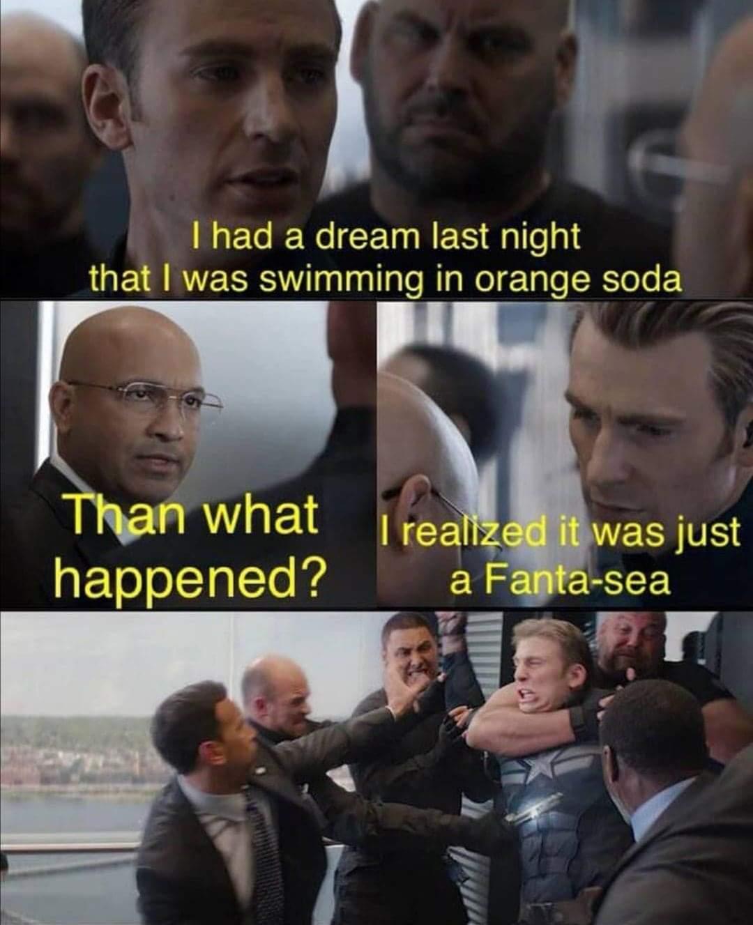 It was just a Fanta-sea meme