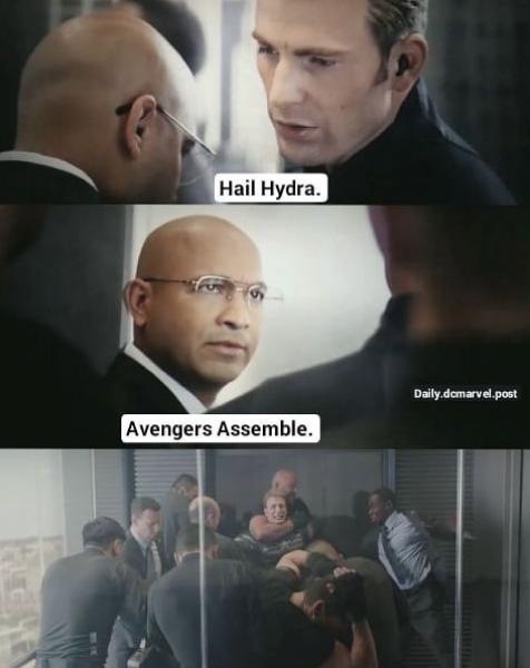 captain america elevator fight meme