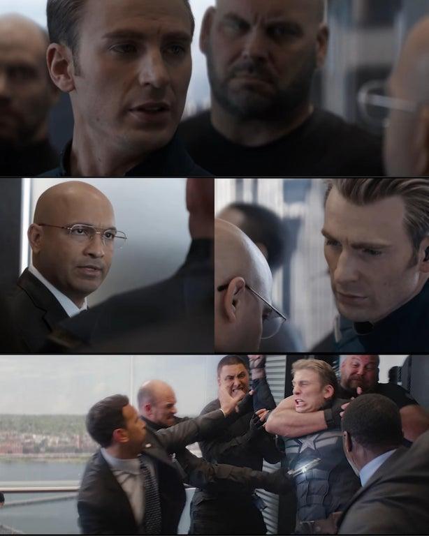 Captain America dad joke Meme template