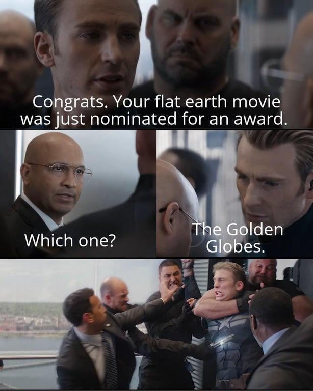 flat earthers captain america dad joke
