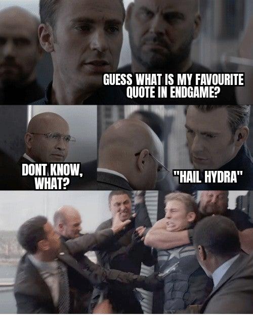 captain america dad joke hail hydra