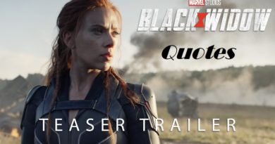 Black Widow Movie Quotes