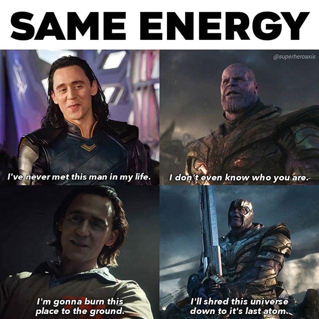 Loki x Thanos meme