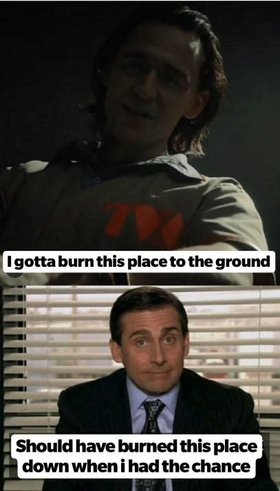 The office x Loki meme