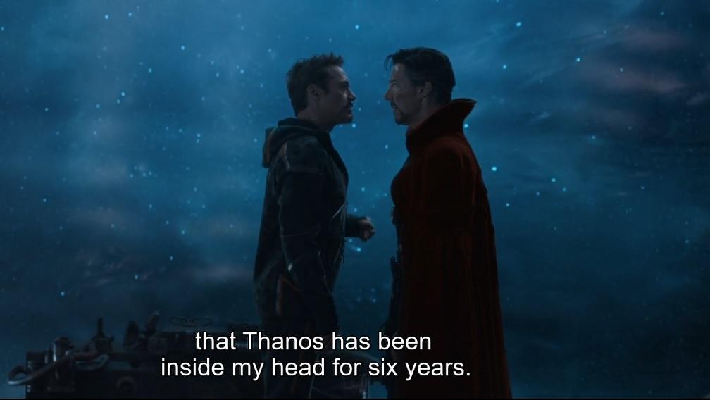 Thanos has been inside his head for 6 years