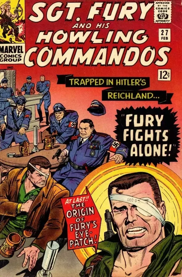 Fury lost eye in comics