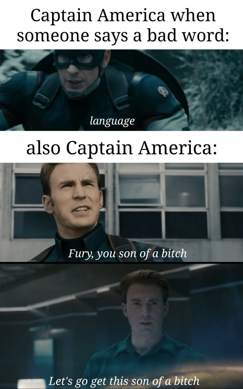 son of a bitch captain america meme
