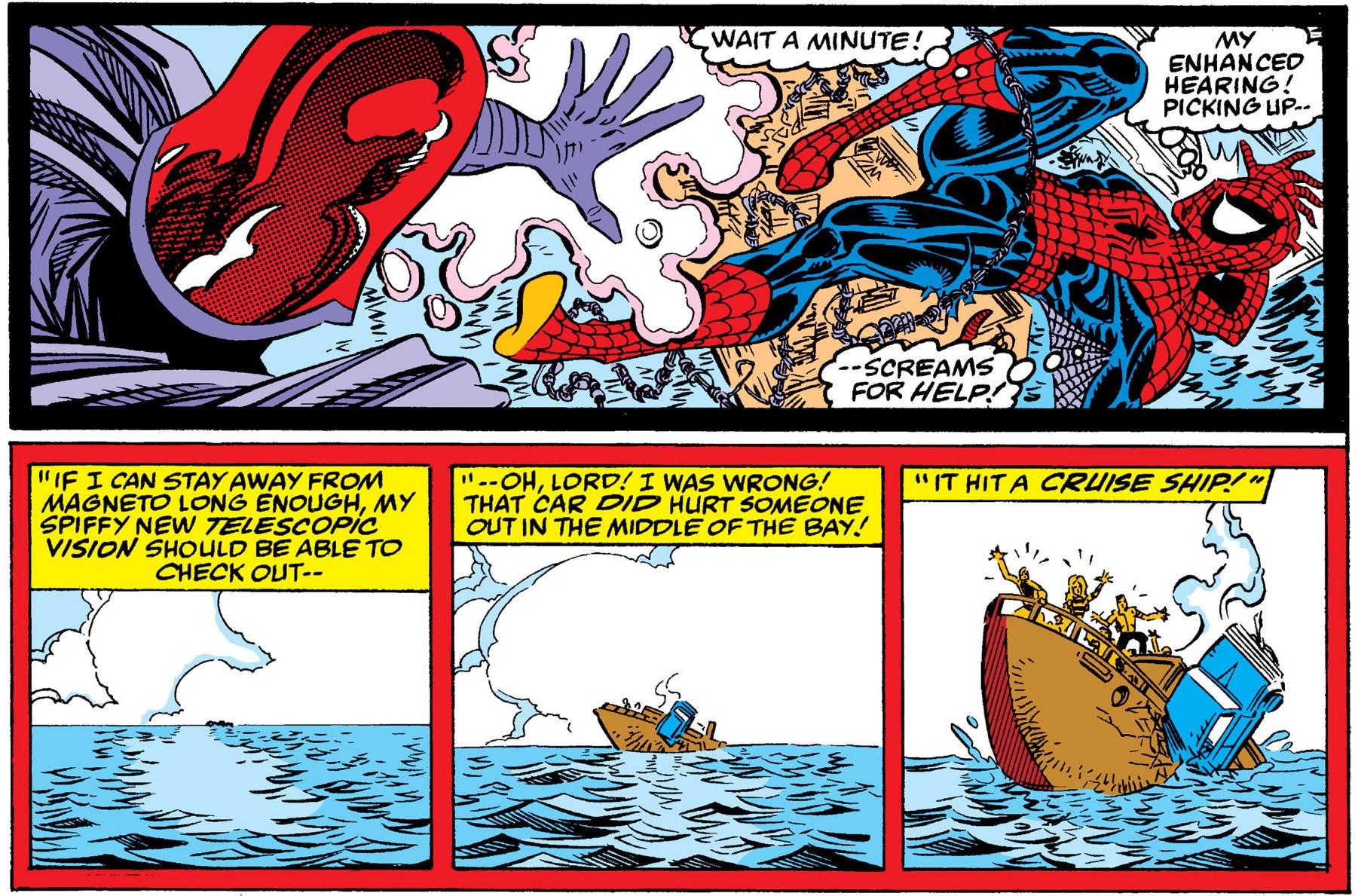 spiderman senses sinking ship