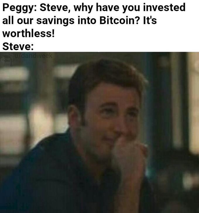steve invested in bitcoin meme