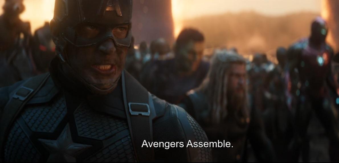 Avengers Assemble captain america quote