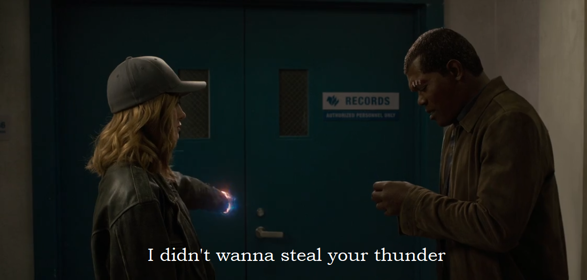 didn't wanna steal your thunder