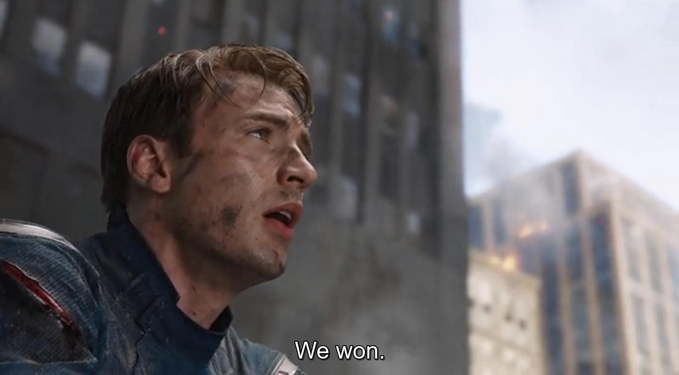 we won captain america quote