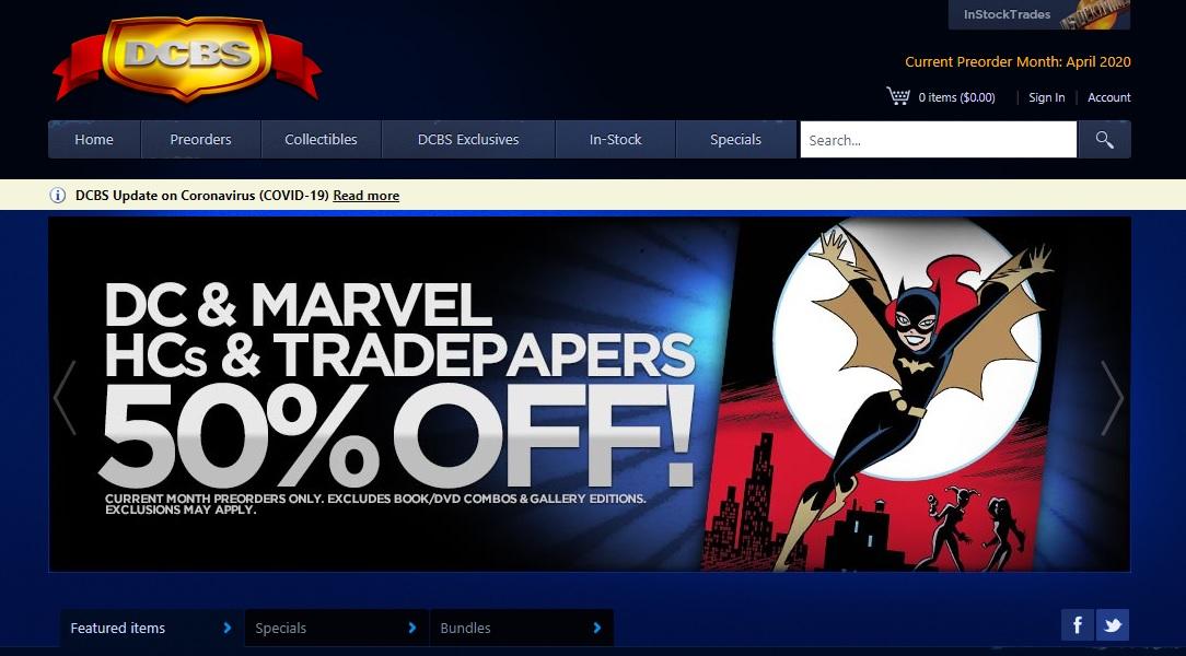 Discount Comic Book Service website