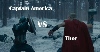 thor vs captain america