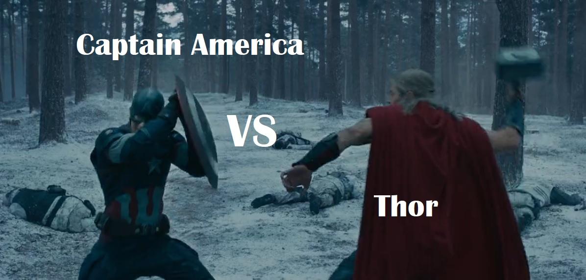 thor vs captain america