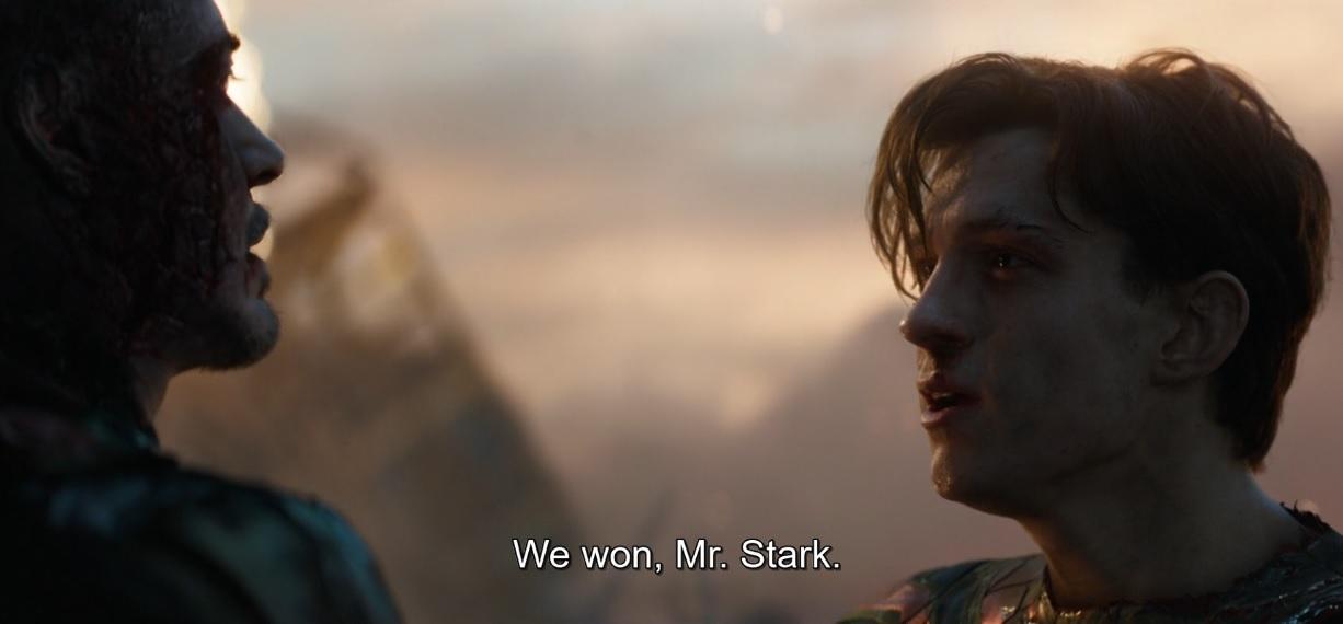 We won Mr. Stark